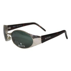 Gucci vintage sunglasses GG2378/S tortoise and green bone metal silver