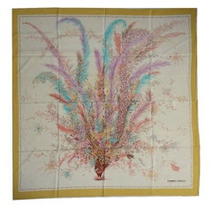 Roberto Capucci foulard vintage tema peacock scarf 100% silk 86×90 cm