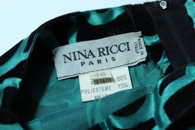 Nina Ricci blouse 1980's vintage baloon sleeves green woman's size 46 7