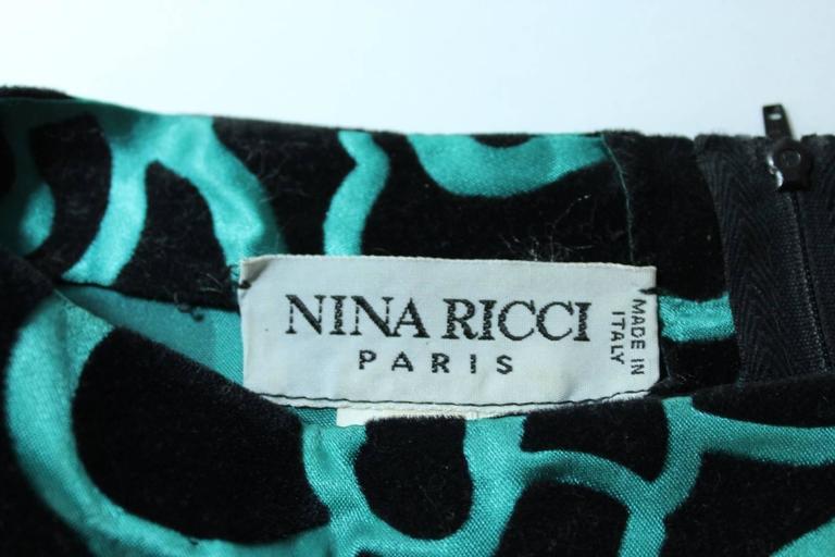 Nina Ricci blouse 1980's vintage baloon sleeves green woman's size 46 8