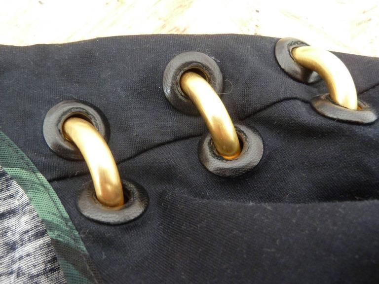 Gianfranco Ferrè 1980s silk vintage dress animal print women's vintage size 44 For Sale 4
