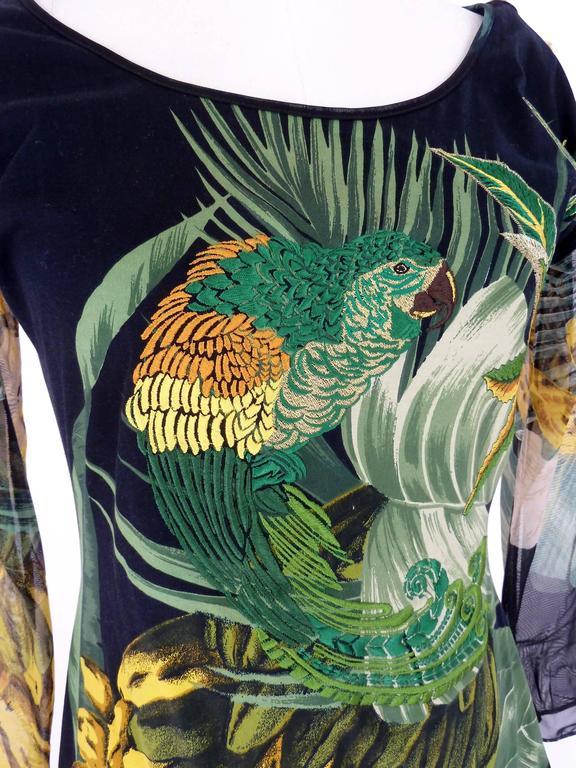 Women's Gianfranco Ferrè 1980s silk vintage dress animal print women's vintage size 44 For Sale