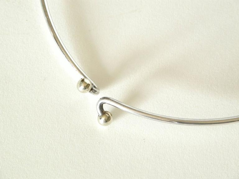 Women's Modernist Sterling Necklace with Geometric Pendant For Sale