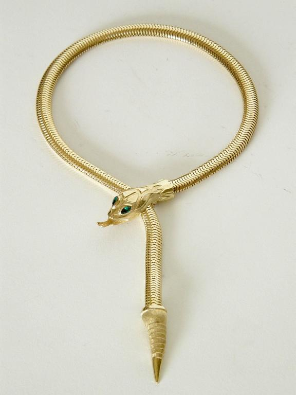 Francois For Coro Snake Necklace And Bracelet Set At 1stdibs