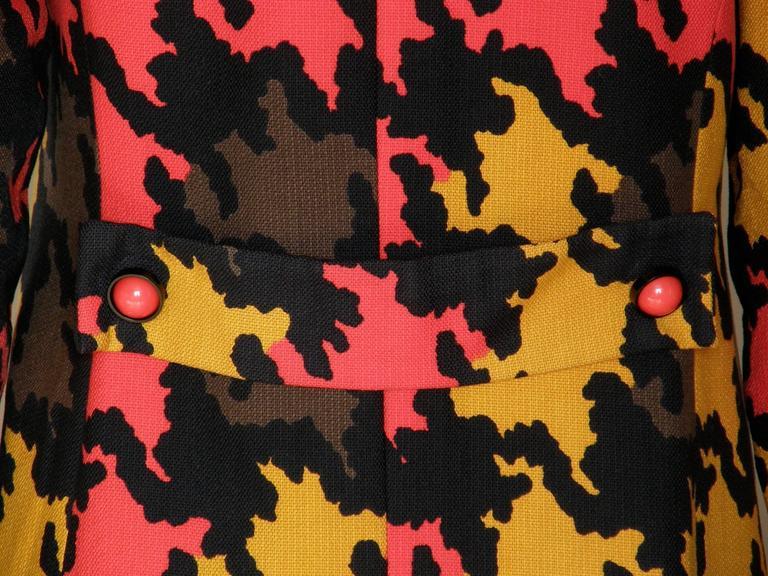 Op Art Houndstooth Coat For Sale 2