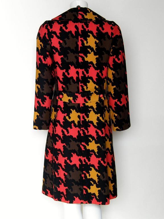 Women's Op Art Houndstooth Coat For Sale
