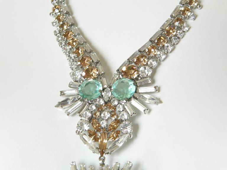 West German Rhinestone Necklace 7