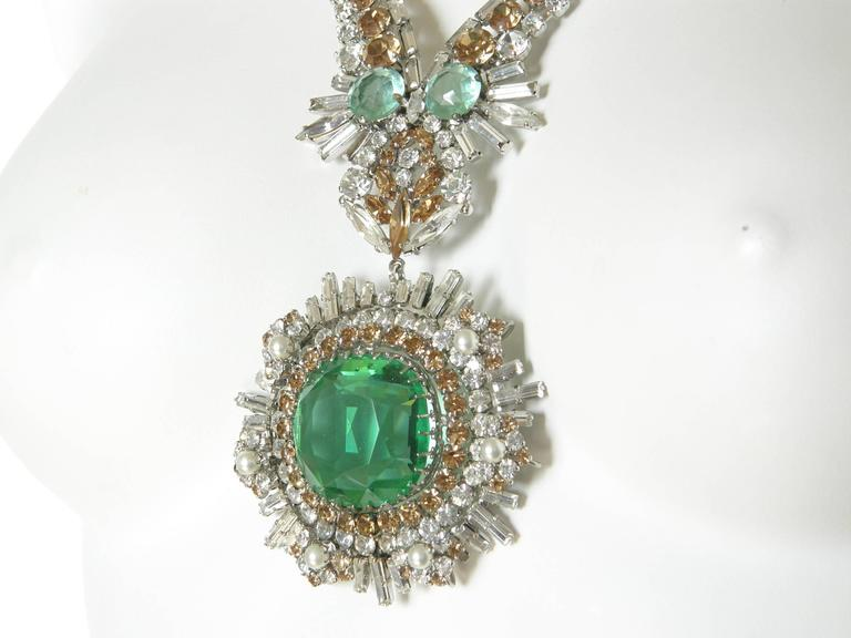 West German Rhinestone Necklace For Sale 1