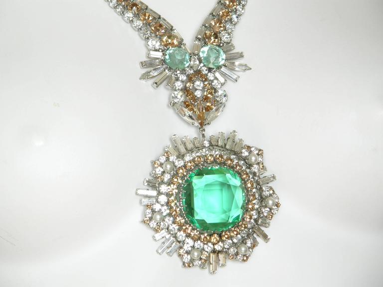 West German Rhinestone Necklace 4