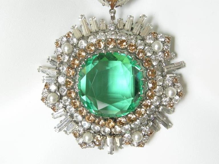 West German Rhinestone Necklace For Sale 3