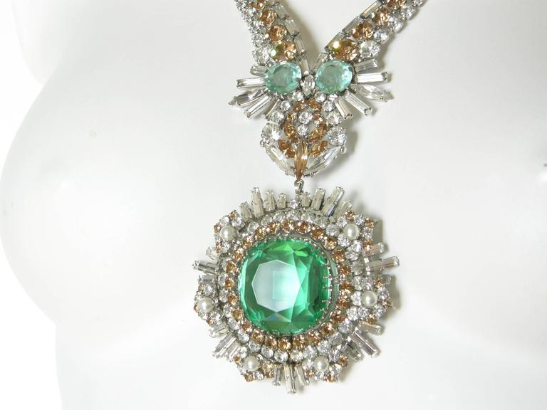 Women's West German Rhinestone Necklace For Sale