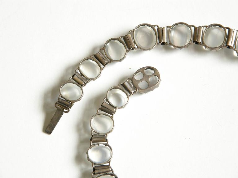 Sterling Necklace with Moonstones 6