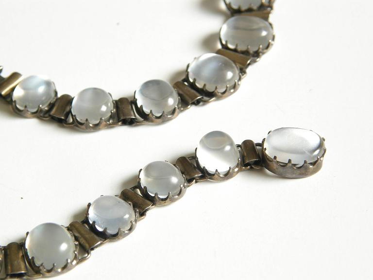 Sterling Necklace with Moonstones 5