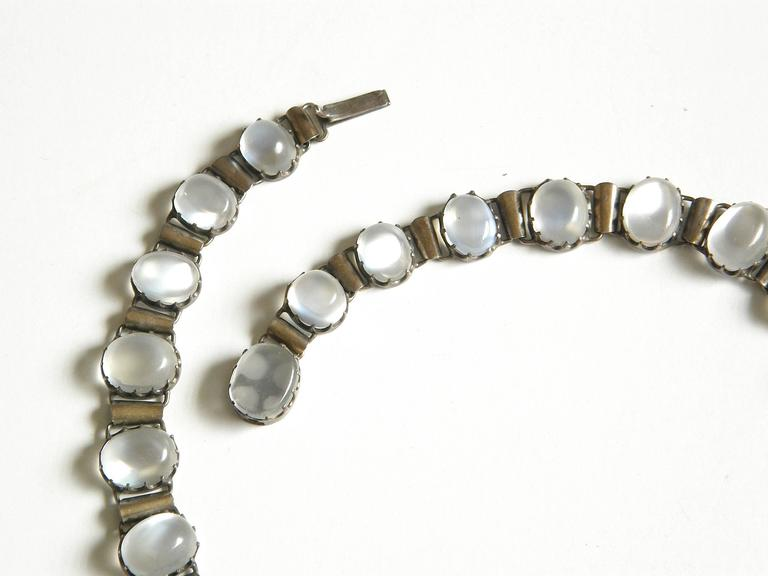 Sterling Necklace with Moonstones 4