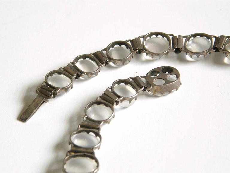 Sterling Necklace with Moonstones 7