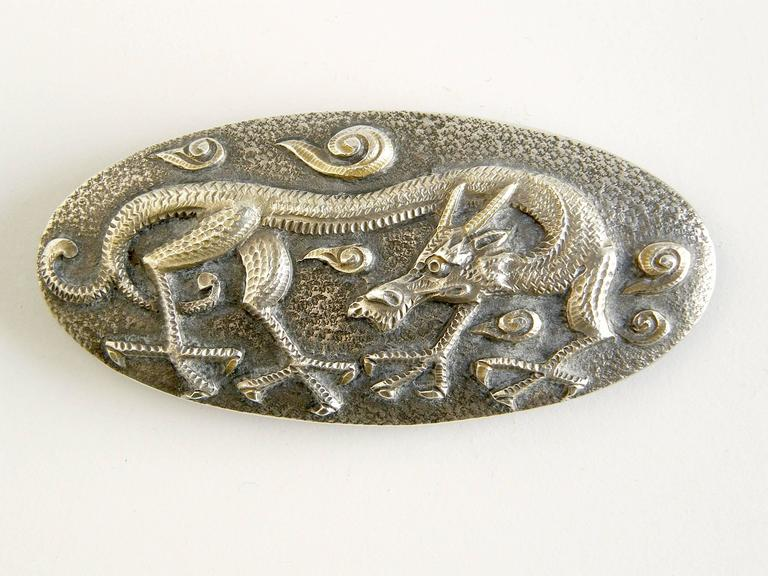 Sterling Dragon Buckle 3