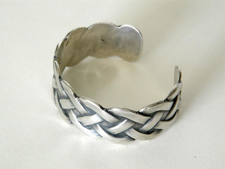 Sterling Bracelet with Woven Design 3