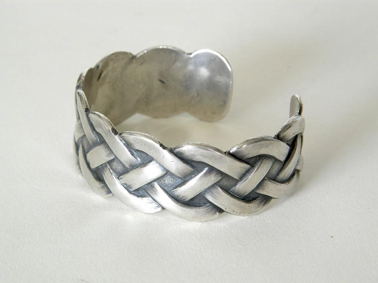 Sterling Bracelet with Woven Design 4