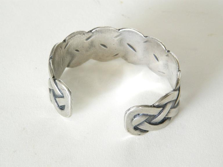 Sterling Bracelet with Woven Design 6