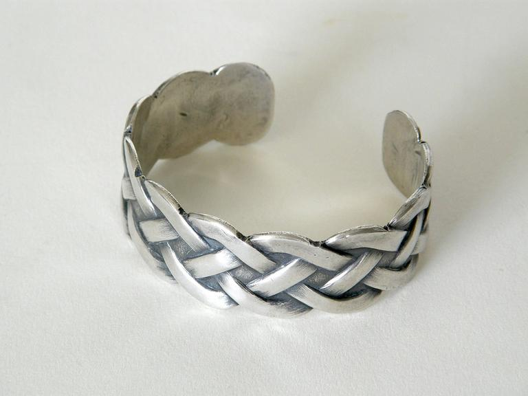 Sterling Bracelet with Woven Design 2