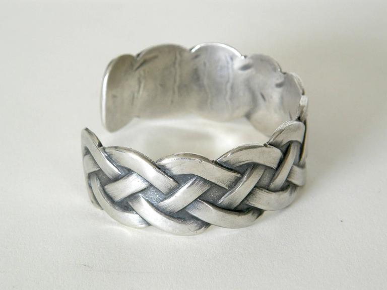 Sterling Bracelet with Woven Design 5