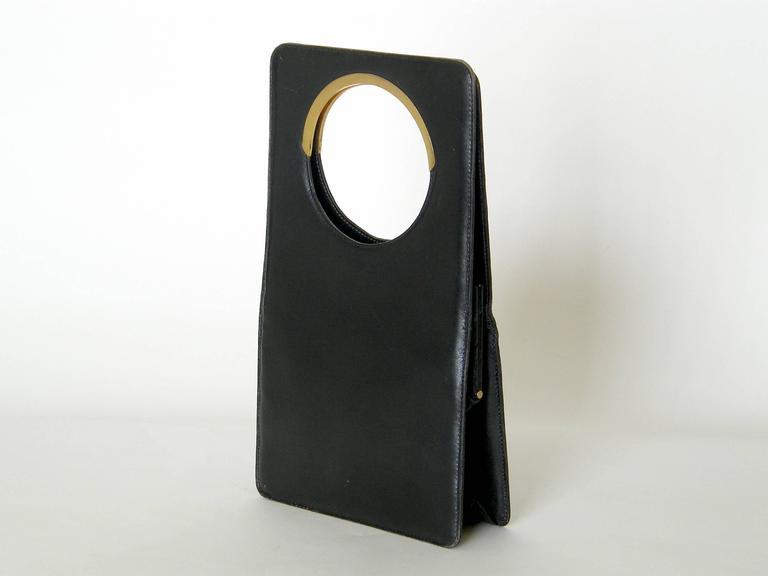 Pierre Cardin Black Leather Handbag 3