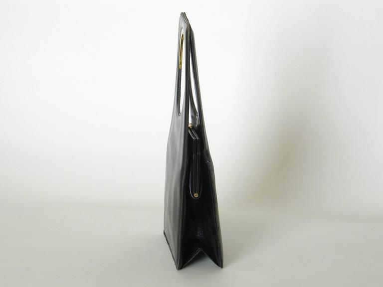 Pierre Cardin Black Leather Handbag 6