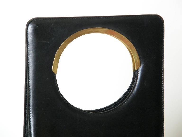 Women's Pierre Cardin Black Leather Handbag For Sale