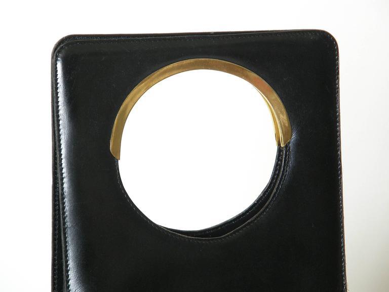 Pierre Cardin Black Leather Handbag 5