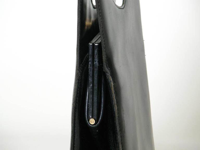 Pierre Cardin Black Leather Handbag 7