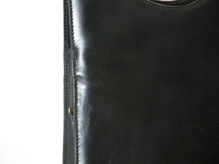 Pierre Cardin Black Leather Handbag For Sale 4