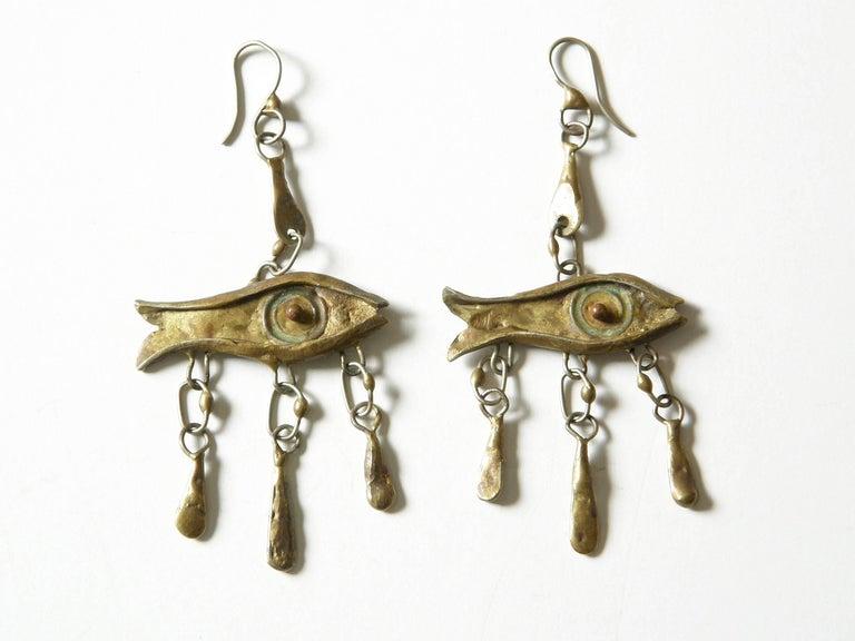 Armando Lozano Ramírez Surrealist Fish Face Necklace and Earrings Set For Sale 2