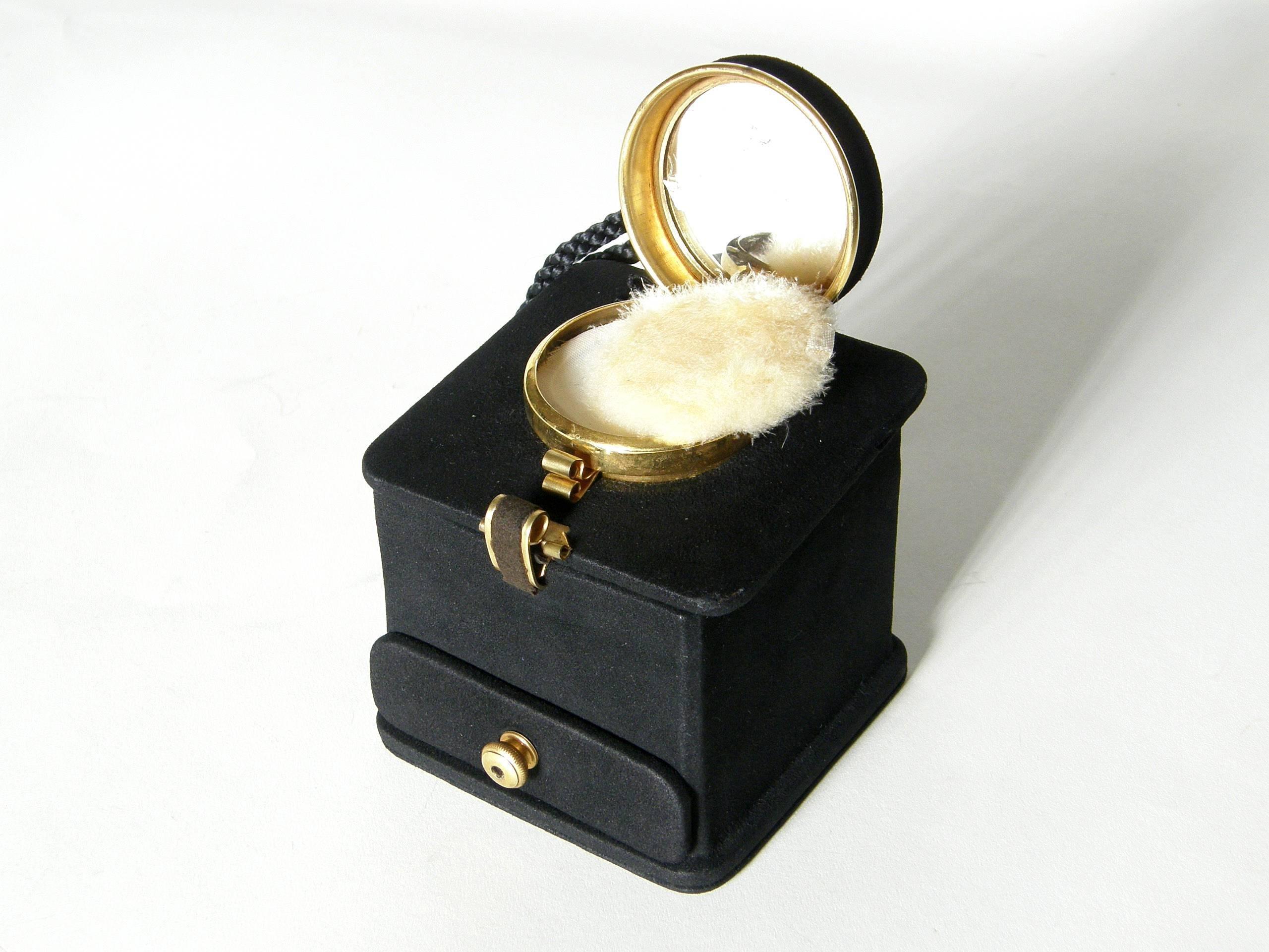 1stdibs Jeanne Bernard Of Paris Black Suede Coffee Grinder Shaped Handbag typlr