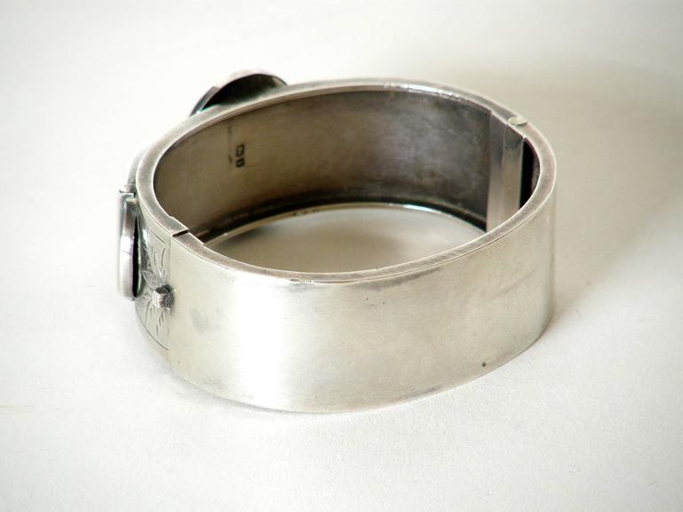 Victorian Sterling Buckle Bracelet For Sale 3