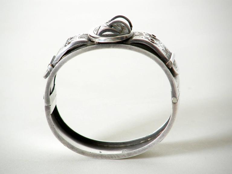 Victorian Sterling Buckle Bracelet For Sale 1