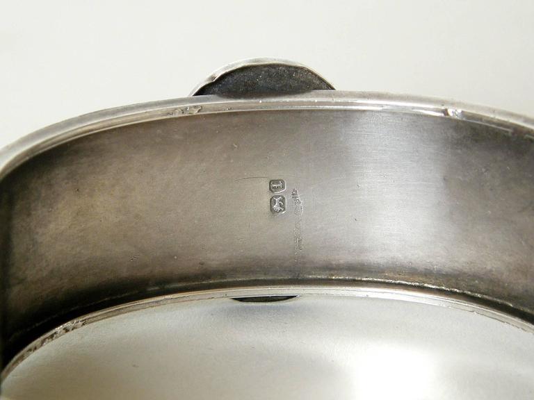 Victorian Sterling Buckle Bracelet For Sale 4