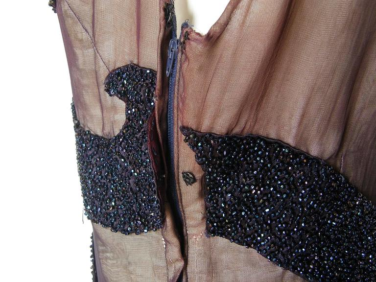 Nude Illusion Wiggle Fit Beaded Party Dress For Sale 5