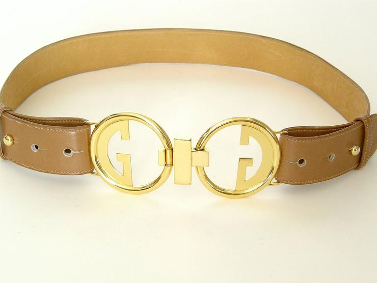 Gucci Leather Belt with Double G Buckle 2