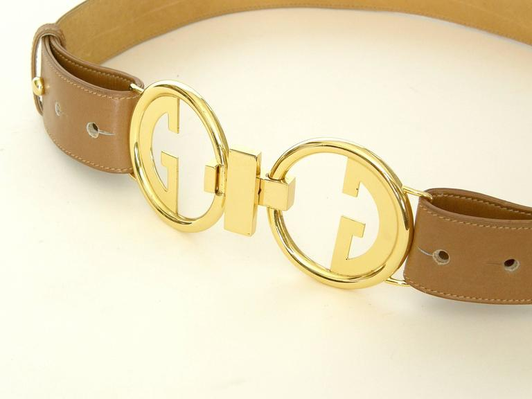 Gucci Leather Belt with Double G Buckle 4