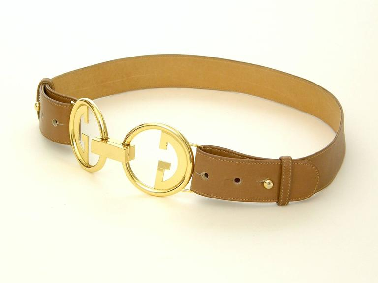 Gucci Leather Belt with Double G Buckle 3