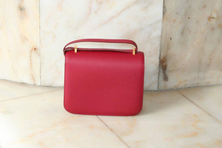 HERMES Constance Mini Epsom Rubis 18'