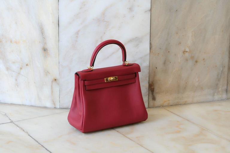HERMES Kelly Rouge Grenat swift 25' 3