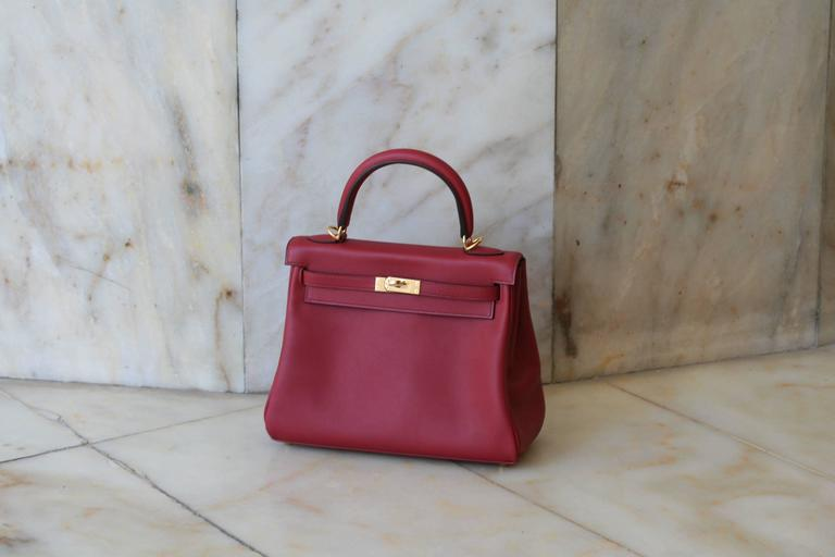 HERMES Kelly Rouge Grenat swift 25' 4