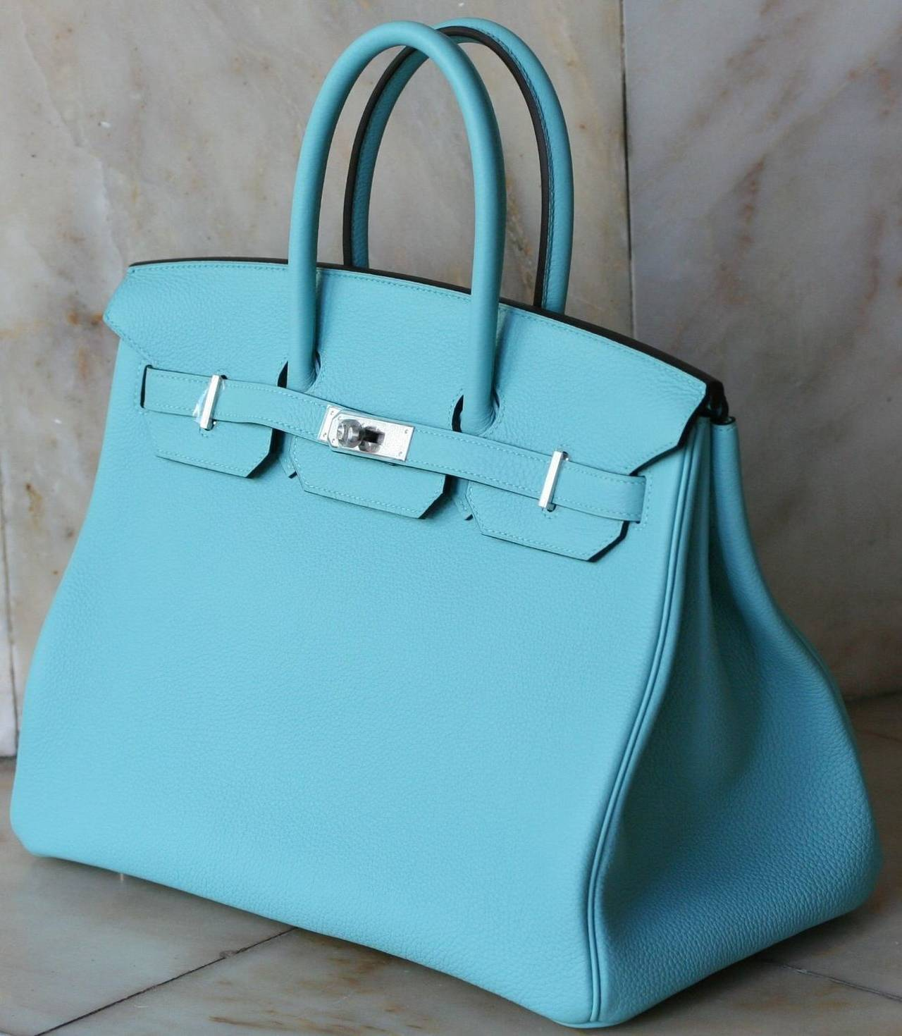 HERMES Birkin Atoll blue Togo '35