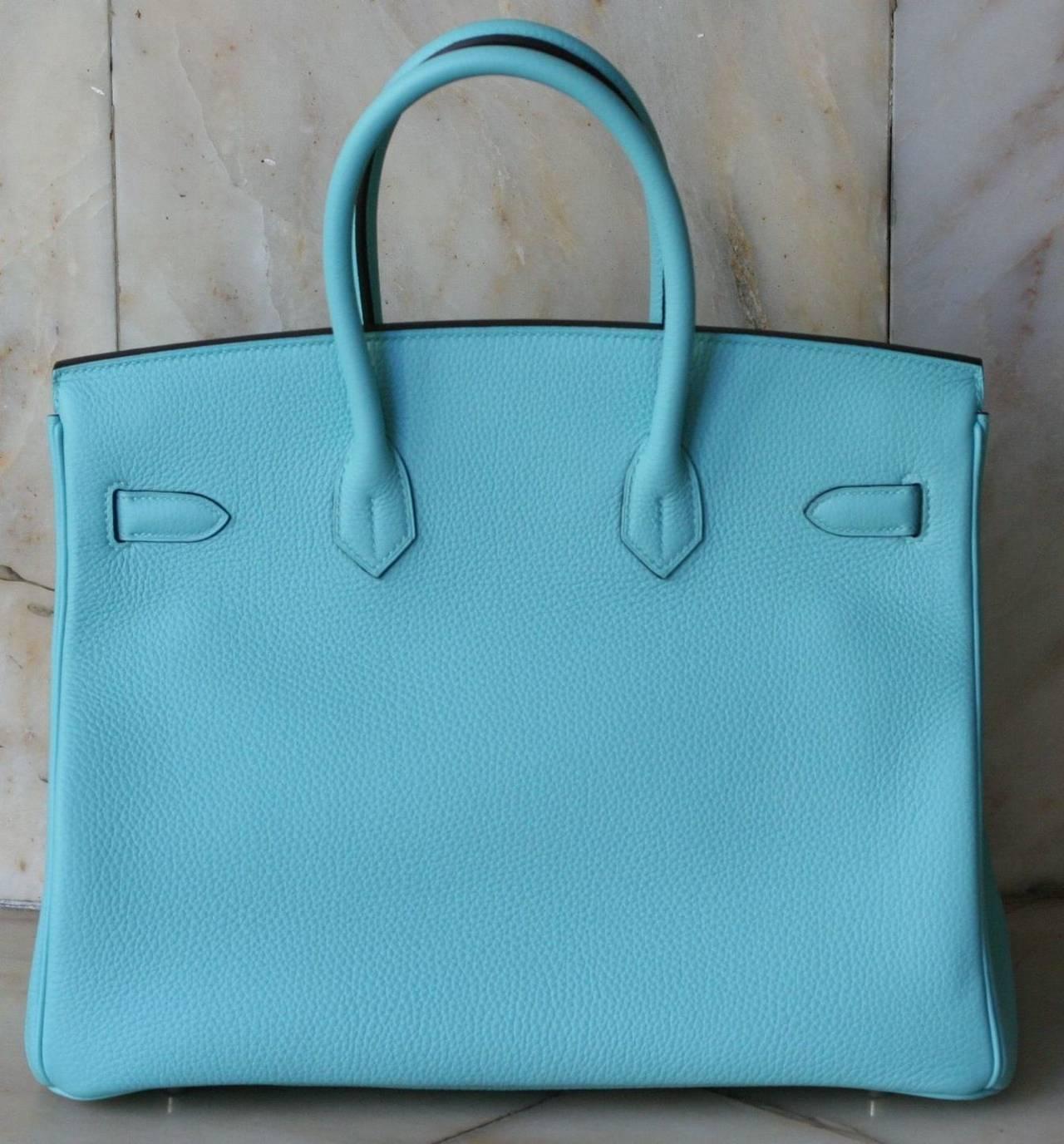 HERMES Birkin Atoll blue Togo '35 3
