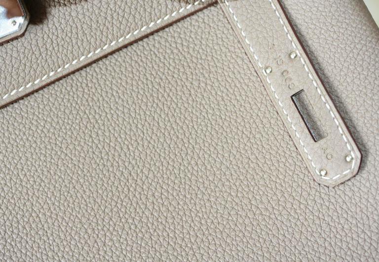 HERMES Kelly étoupe togo leather 28cm  5