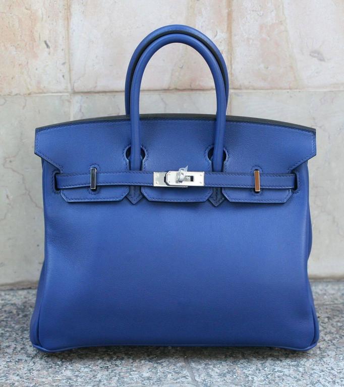 HERMES Birkin Swift sapphire blue 25'  2