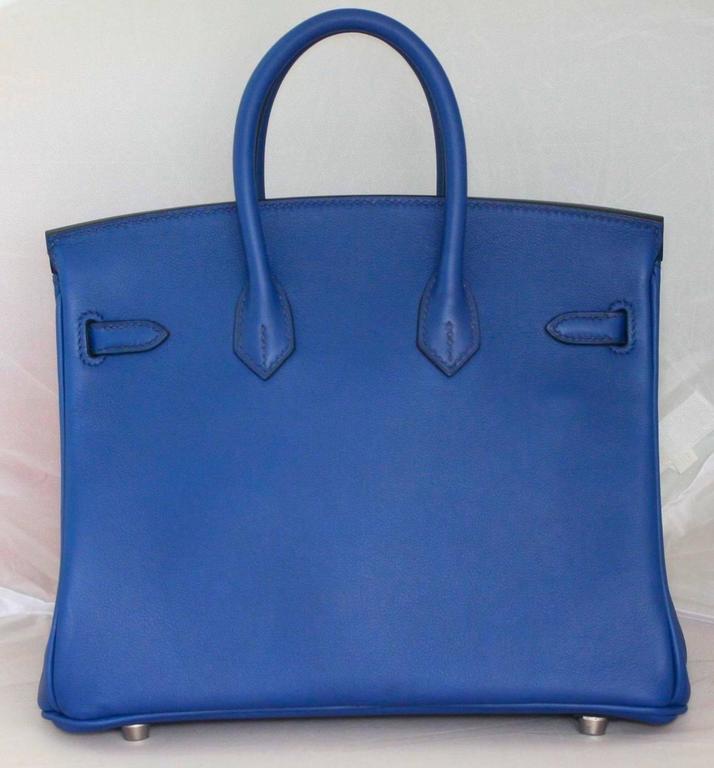 HERMES Birkin Swift sapphire blue 25'  3
