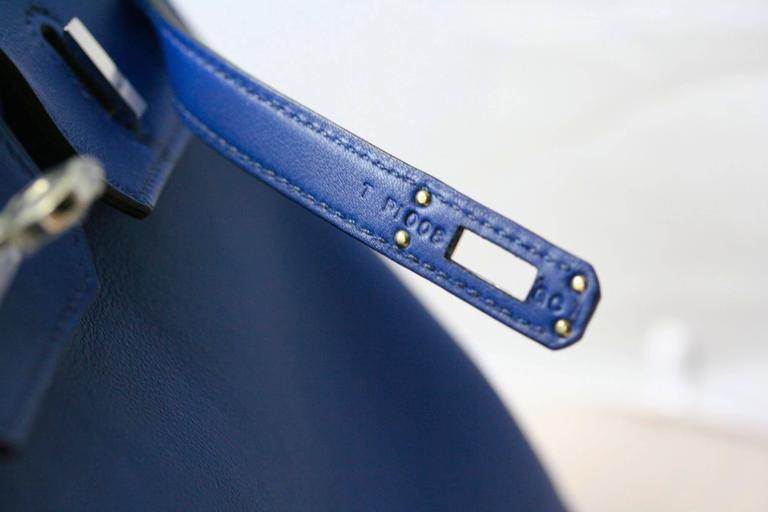 HERMES Birkin Swift sapphire blue 25'  4