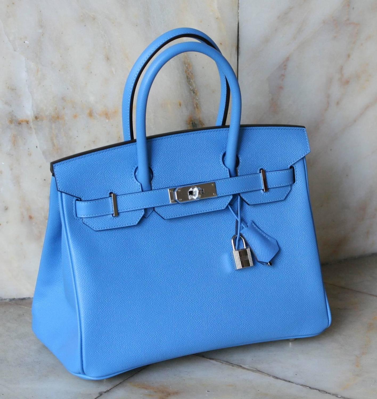 replica hermes birkin handbag - hermes blue jean 35cm birkin leather palladium